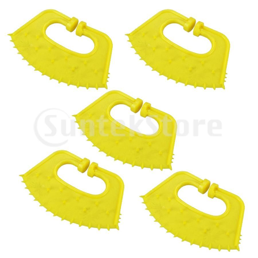 10個の肥厚プラスチックカーフノーズプリックウィーナーキャトルノーズソーンクリップウィーニングツール 開催中 卸直営