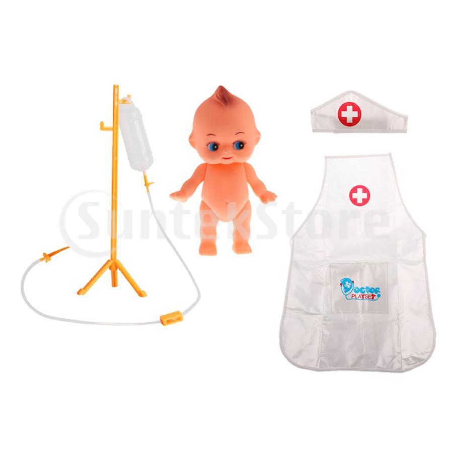 おままごと お医者さん ごっこ遊び 医師 看護師 ロールプレイ おもちゃ 人形 輸液ボトルモデル|stk-shop