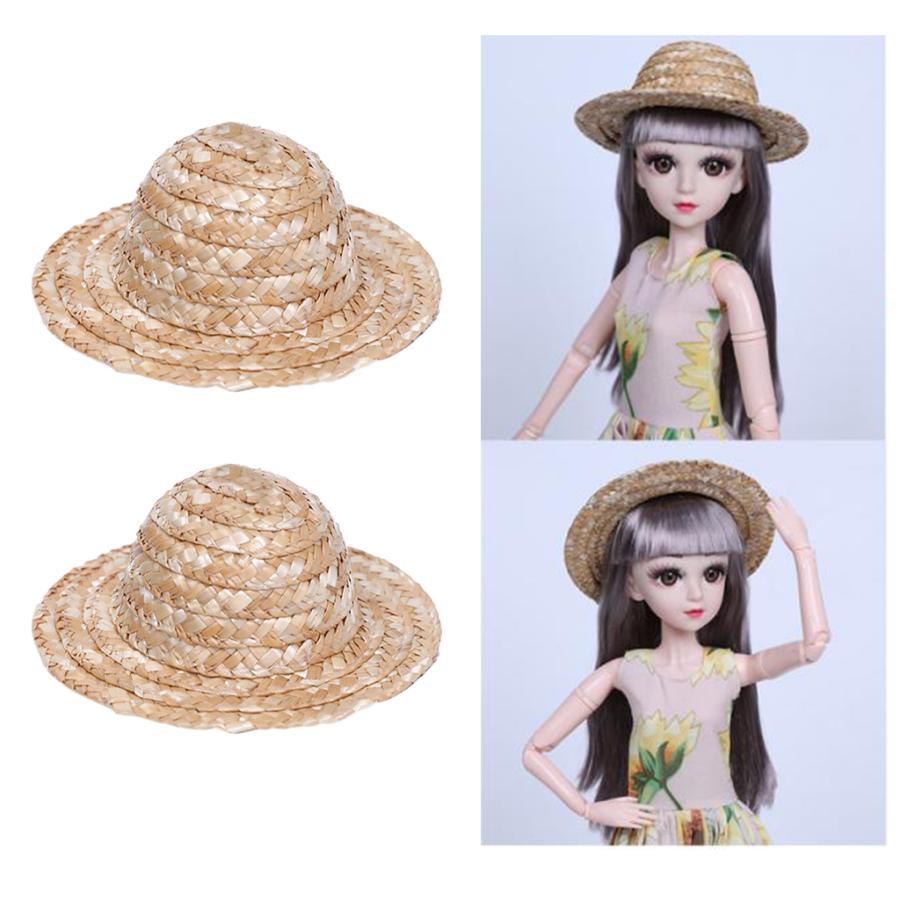 ビーチ手作り麦わら帽子衣装アクセサリーにある60cm人形ドレスアップ2x 買い物 お得