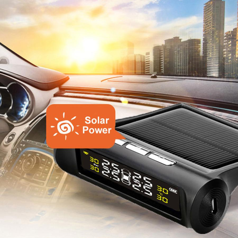 タイヤ空気圧警報モニター RVカー TPMSタイヤ空気圧アラーム モニターシステム ソーラーパワー外部センサー 太陽光発電外部センサー|stk-shop|02