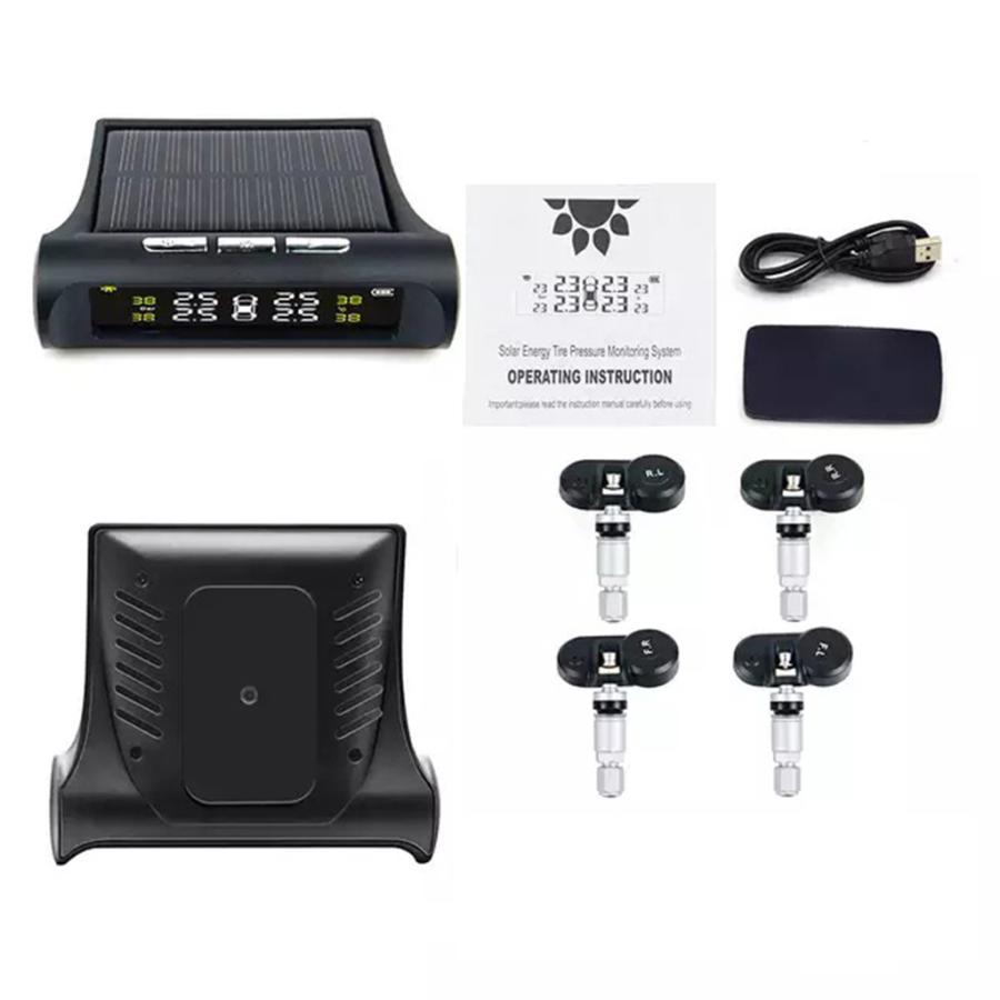 タイヤ空気圧警報モニター RVカー TPMSタイヤ空気圧アラーム モニターシステム ソーラーパワー外部センサー 太陽光発電外部センサー|stk-shop|14