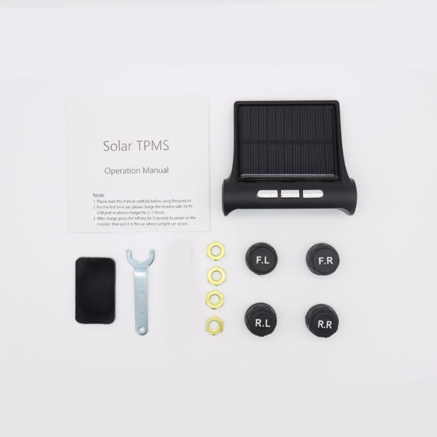 タイヤ空気圧警報モニター RVカー TPMSタイヤ空気圧アラーム モニターシステム ソーラーパワー外部センサー 太陽光発電外部センサー|stk-shop|09