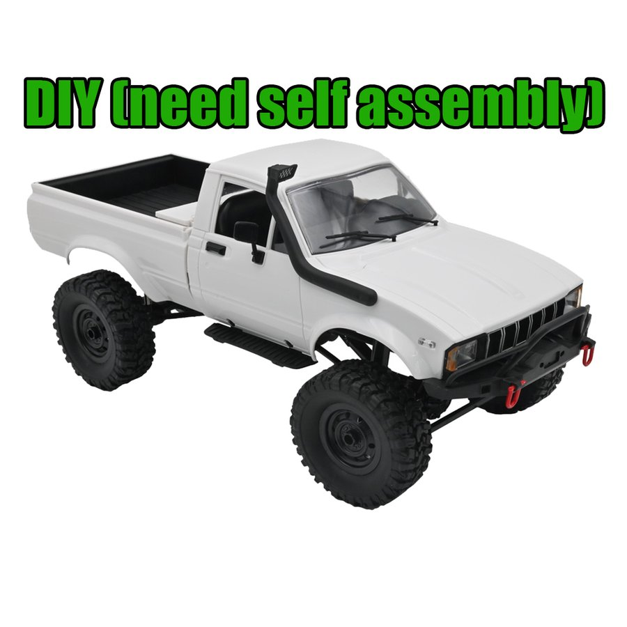 公式 WPL C24 驚きの値段で 164WDクライマーRCカーキットクライミングピックアップトラックキッズおもちゃDIY 1