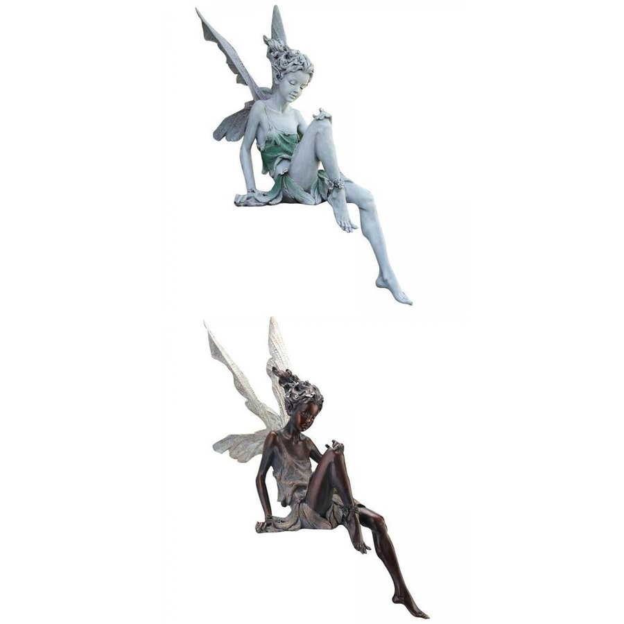 2xResin妖精の像の噴水装飾的な置物ポーチ天使の彫刻 希少 最新号掲載アイテム