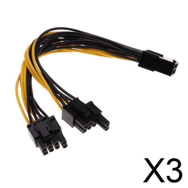 3xPCI-e8ピンからデュアル8ピン PCIe8ピン-2x 激安通販ショッピング 6 今だけスーパーセール限定 グラフィックスビデオ電源ケーブル + 2ピン