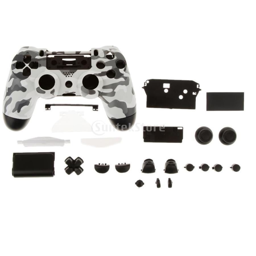 営業 激安☆超特価 PS4コントローラー用のグレー.黒のフルシェルのmodキットの交換