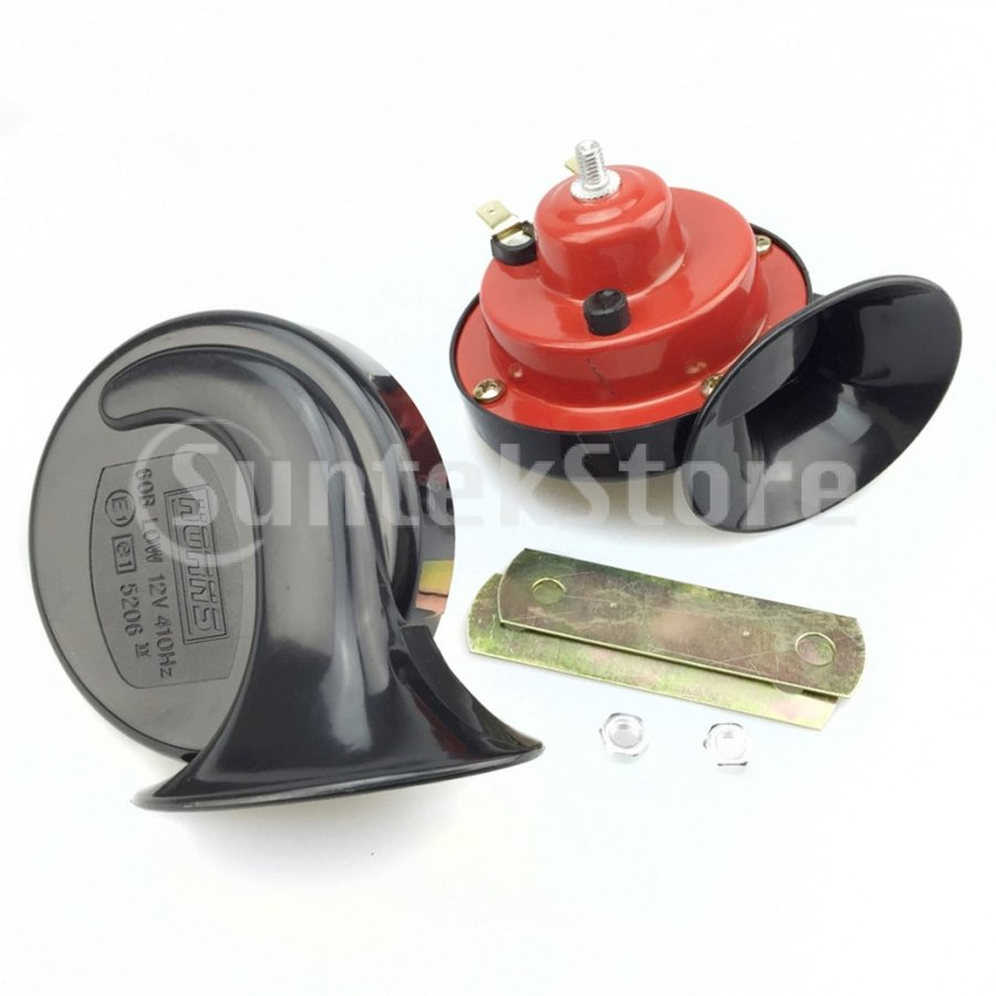カー ダブルトーン カタツムリ型エアホーン 電動 12V 110dB スーパーラウド 部品|stk-shop|05