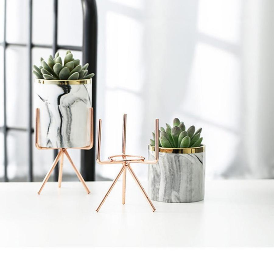 中 セラミック植木鉢 植木鉢スタンド付き屋内屋外植木鉢 stk-shop 03