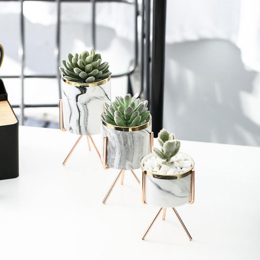 中 セラミック植木鉢 植木鉢スタンド付き屋内屋外植木鉢 stk-shop 05