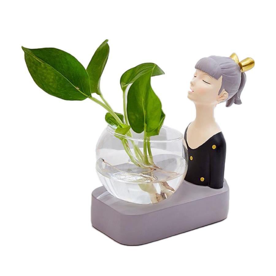 植物テラリウムLED置物ガラスプランター植物テラリウムブラック|stk-shop|02