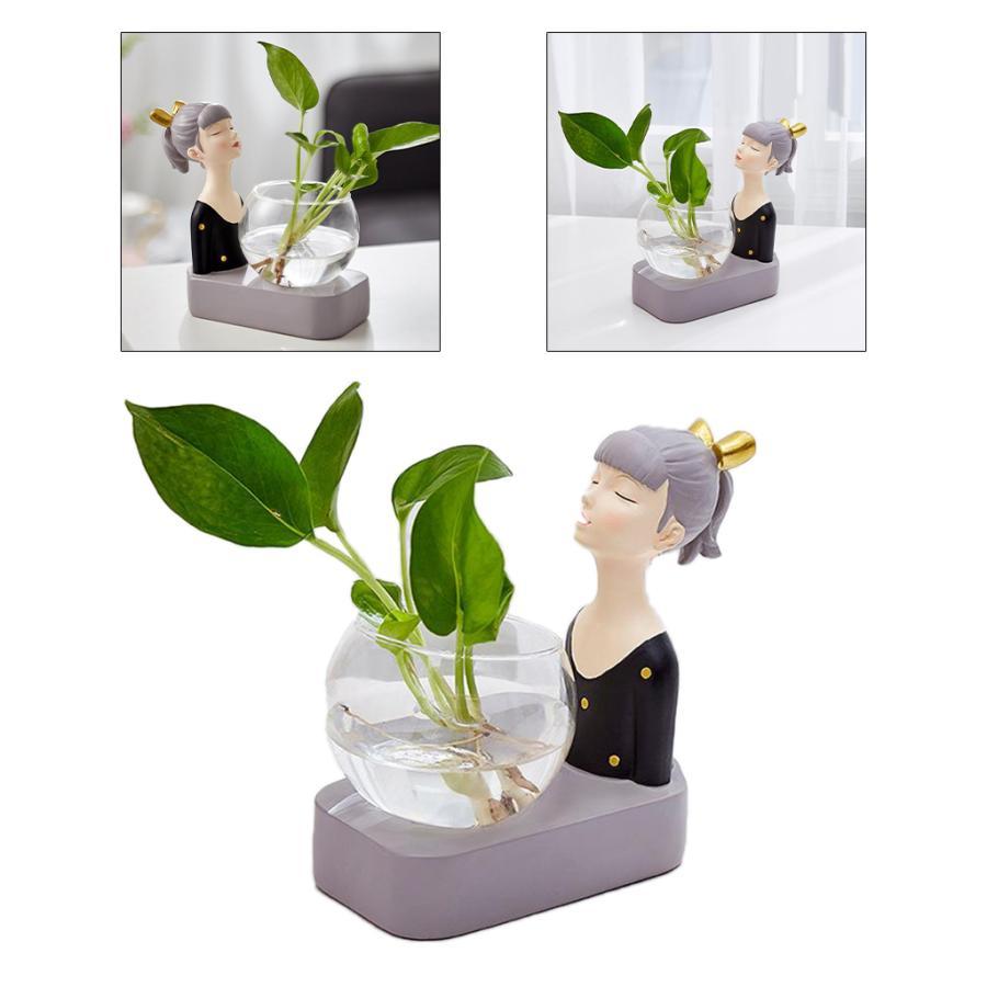 植物テラリウムLED置物ガラスプランター植物テラリウムブラック|stk-shop|03