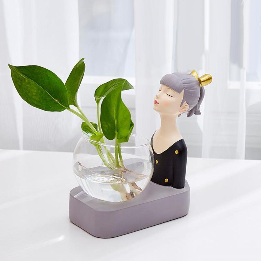 植物テラリウムLED置物ガラスプランター植物テラリウムブラック|stk-shop|04