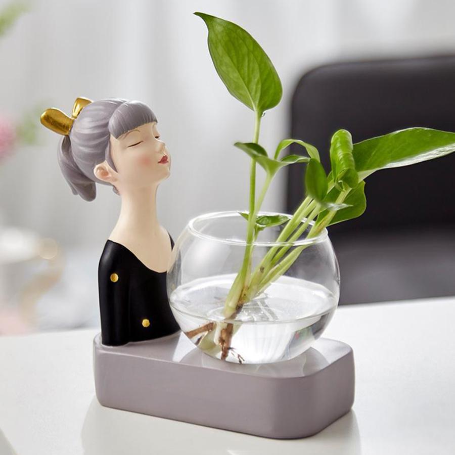 植物テラリウムLED置物ガラスプランター植物テラリウムブラック|stk-shop|05
