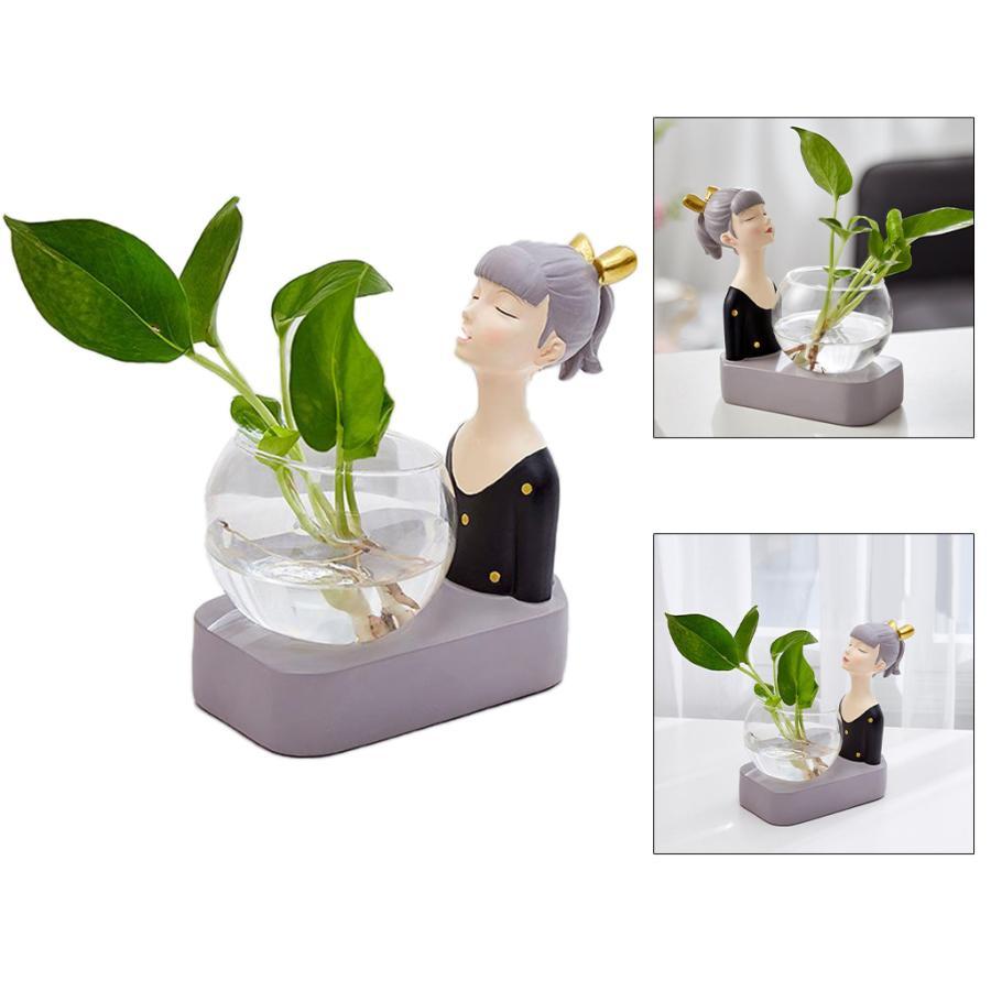 植物テラリウムLED置物ガラスプランター植物テラリウムブラック|stk-shop|06