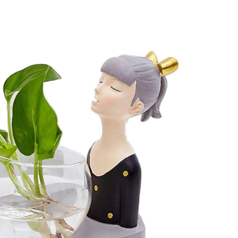 植物テラリウムLED置物ガラスプランター植物テラリウムブラック|stk-shop|08