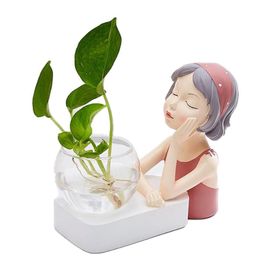 植物テラリウムLED置物ガラスプランター植物テラリウムピンク|stk-shop|02
