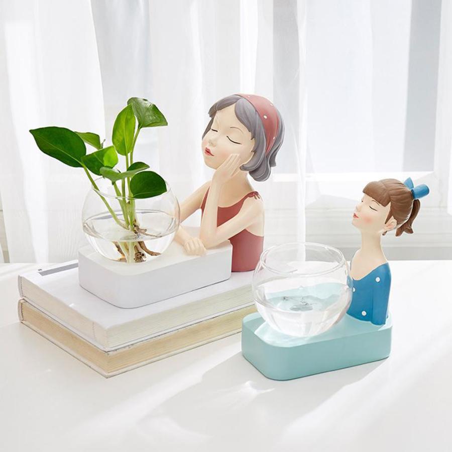植物テラリウムLED置物ガラスプランター植物テラリウムピンク|stk-shop|03