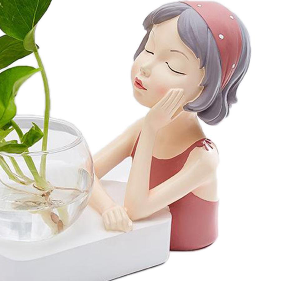 植物テラリウムLED置物ガラスプランター植物テラリウムピンク|stk-shop|08