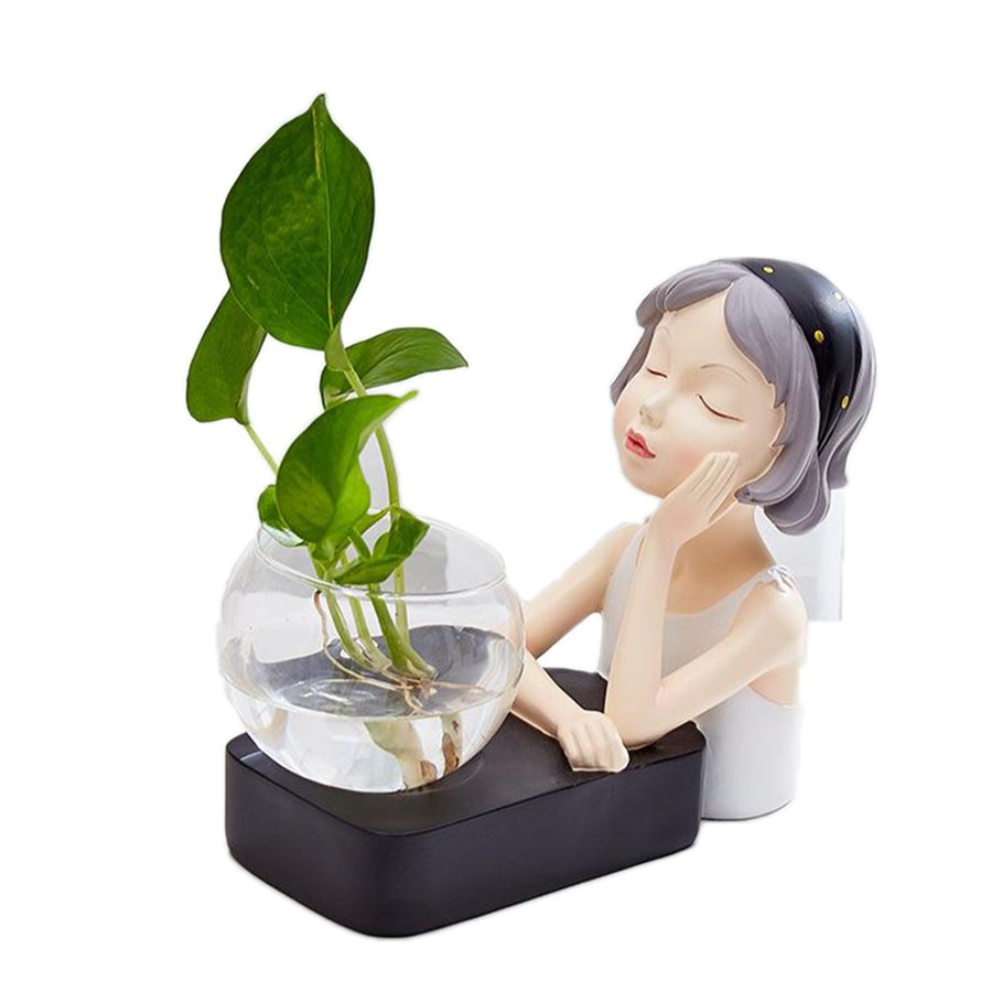 植物テラリウムLED置物ガラスプランター植物テラリウムチンレストブラック|stk-shop|02