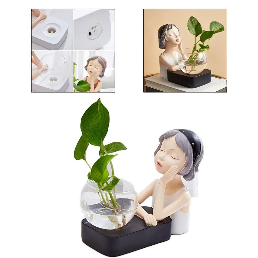 植物テラリウムLED置物ガラスプランター植物テラリウムチンレストブラック|stk-shop|03