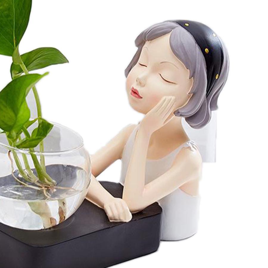 植物テラリウムLED置物ガラスプランター植物テラリウムチンレストブラック|stk-shop|08