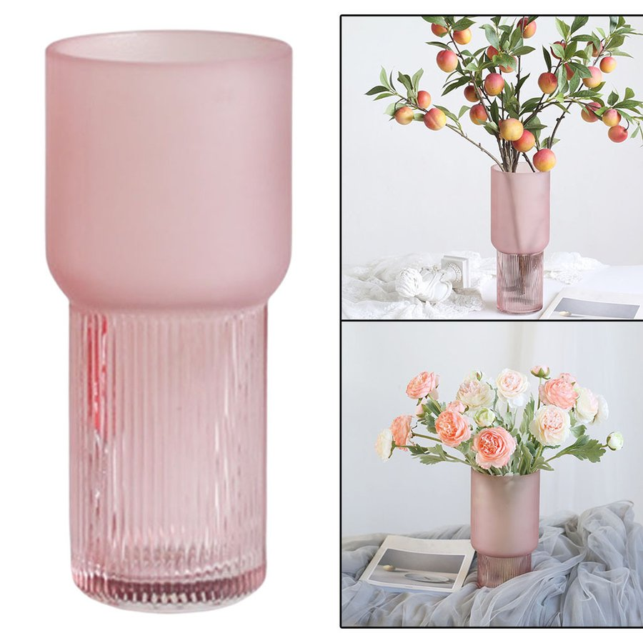 アートガラス花瓶テーブル植物コンテナホルダー結婚式の家の装飾ピンクスモールA|stk-shop|05