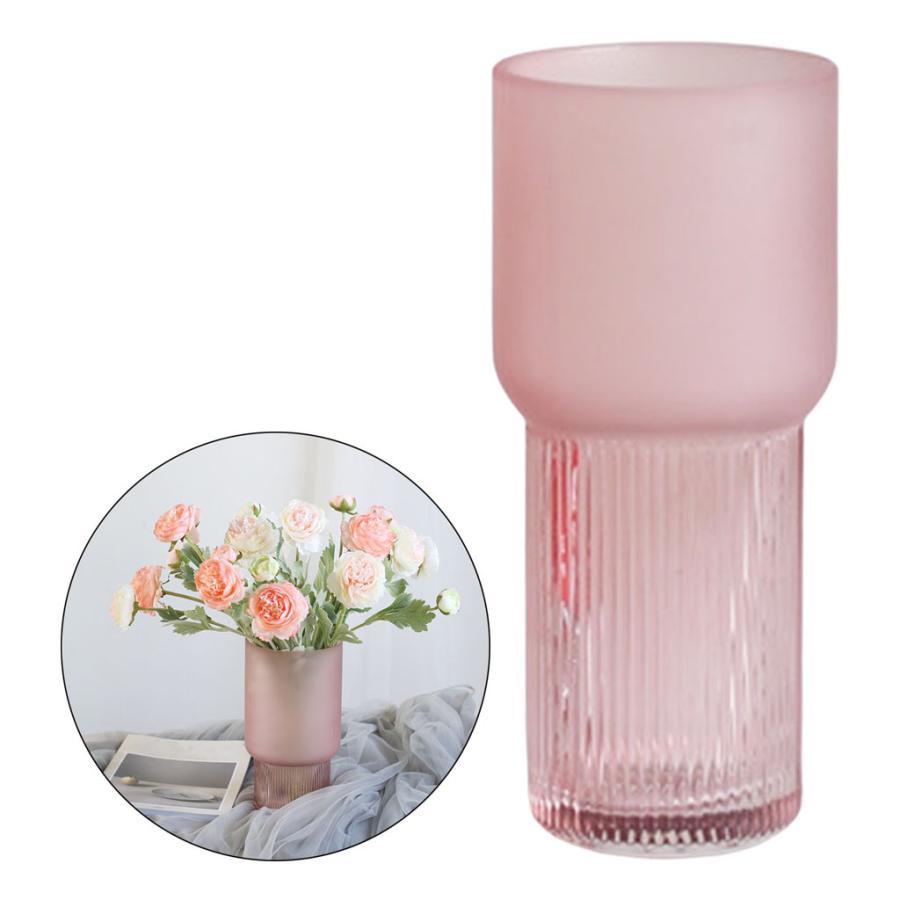 アートガラス花瓶テーブル植物コンテナホルダー結婚式の家の装飾ピンクスモールA|stk-shop|06