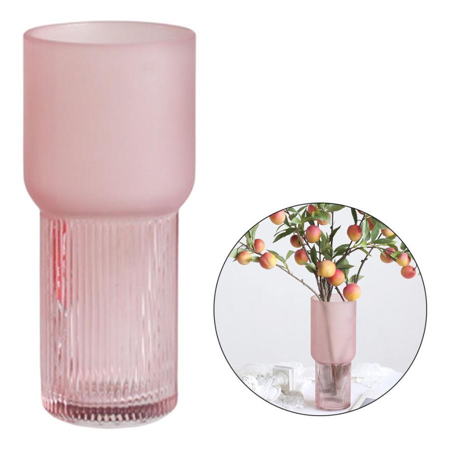 アートガラス花瓶テーブル植物コンテナホルダー結婚式の家の装飾ピンクスモールA|stk-shop|07