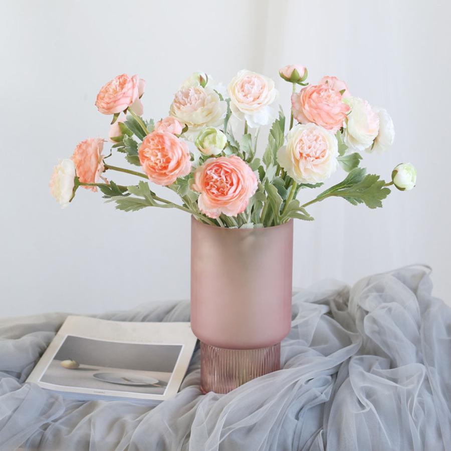 アートガラス花瓶テーブル植物コンテナホルダー結婚式の家の装飾ピンクスモールA|stk-shop|10