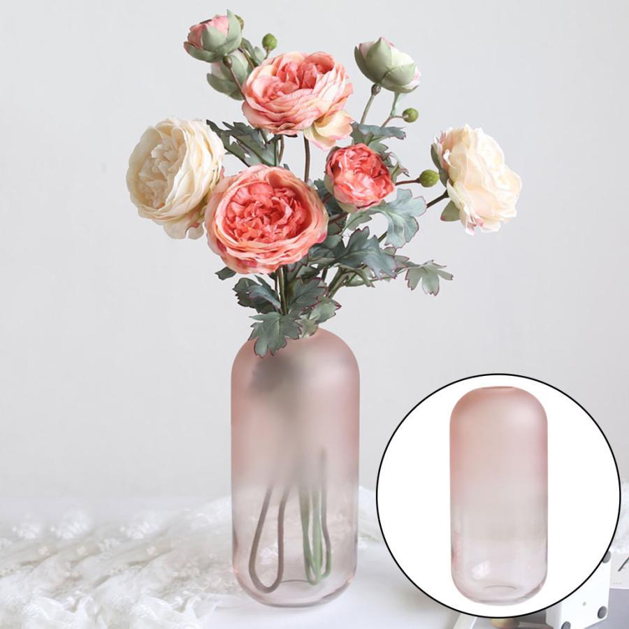 アートガラス花瓶テーブル植物コンテナホルダー結婚式の家の装飾ピンクラージB|stk-shop|04