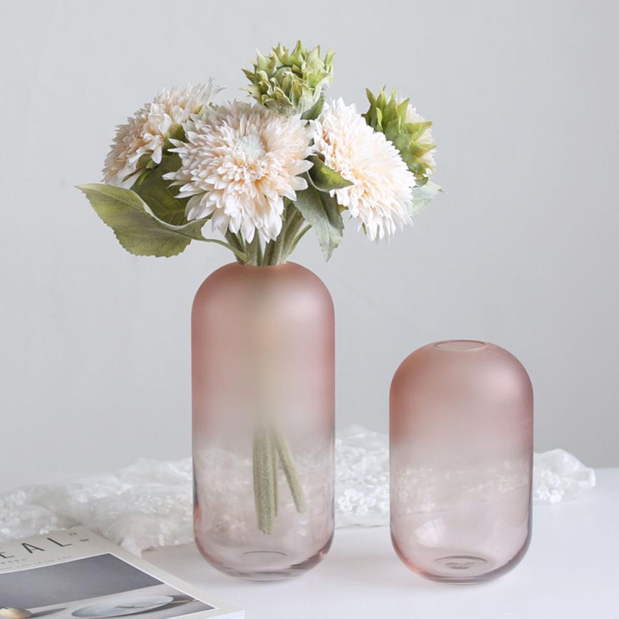 アートガラス花瓶テーブル植物コンテナホルダー結婚式の家の装飾ピンクラージB|stk-shop|09