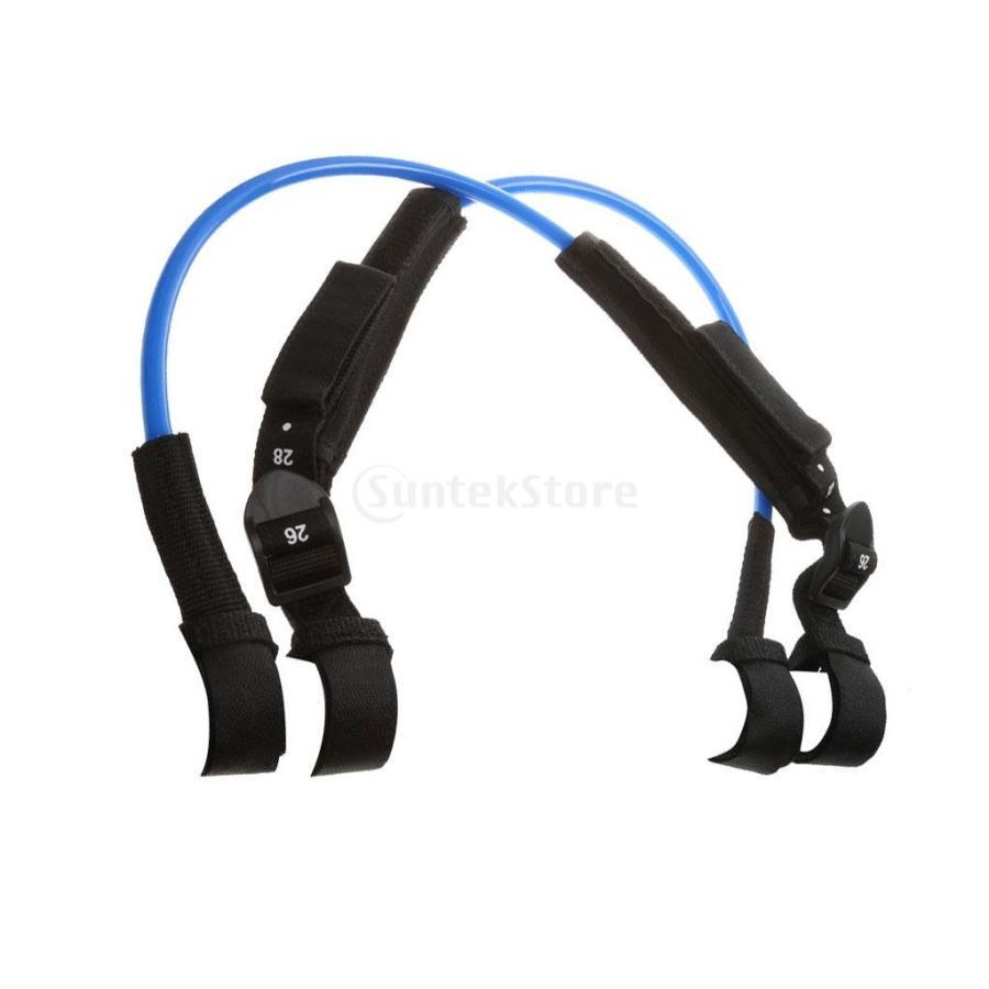 ウィンドサーフィン ハーネス ライン 長さ調節可能 2個 全2色5長さ - 青, 22-28インチ|stk-shop|04