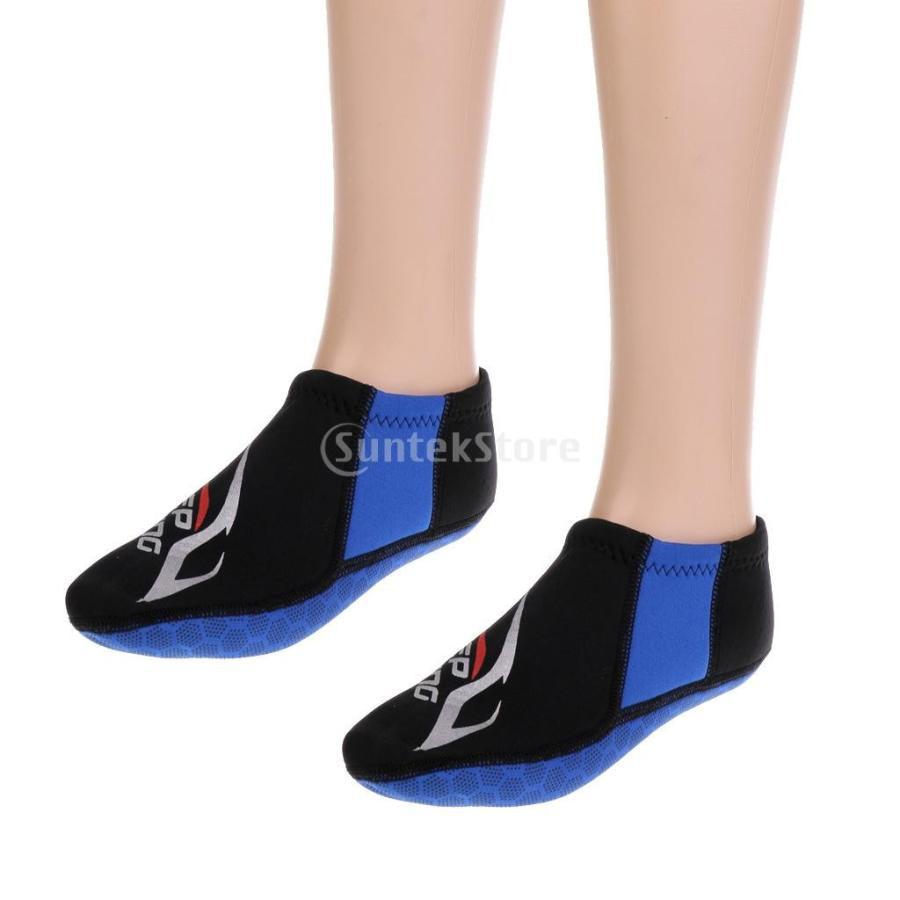ウォータースポーツ ネオプレン ダイビング サーフィン ソックス 靴下 ブーツ 3mm 5サイズ選べる - M|stk-shop