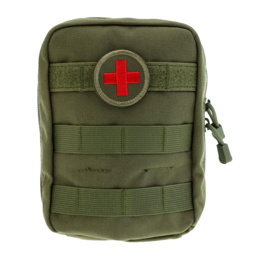 豊富な品 正規品送料無料 ナイロン 戦術的 登山 防災 救急用 モール EMT 全3色 - アーミーグリーン ポーチ 応急処置ポーチ メディカルバック
