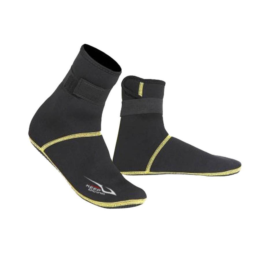 保暖 ネオプレン スイミング サーフィン ダイビング ソックス ウェットスーツ ブーツ 快適 全5サイズ - ブラック, XS stk-shop