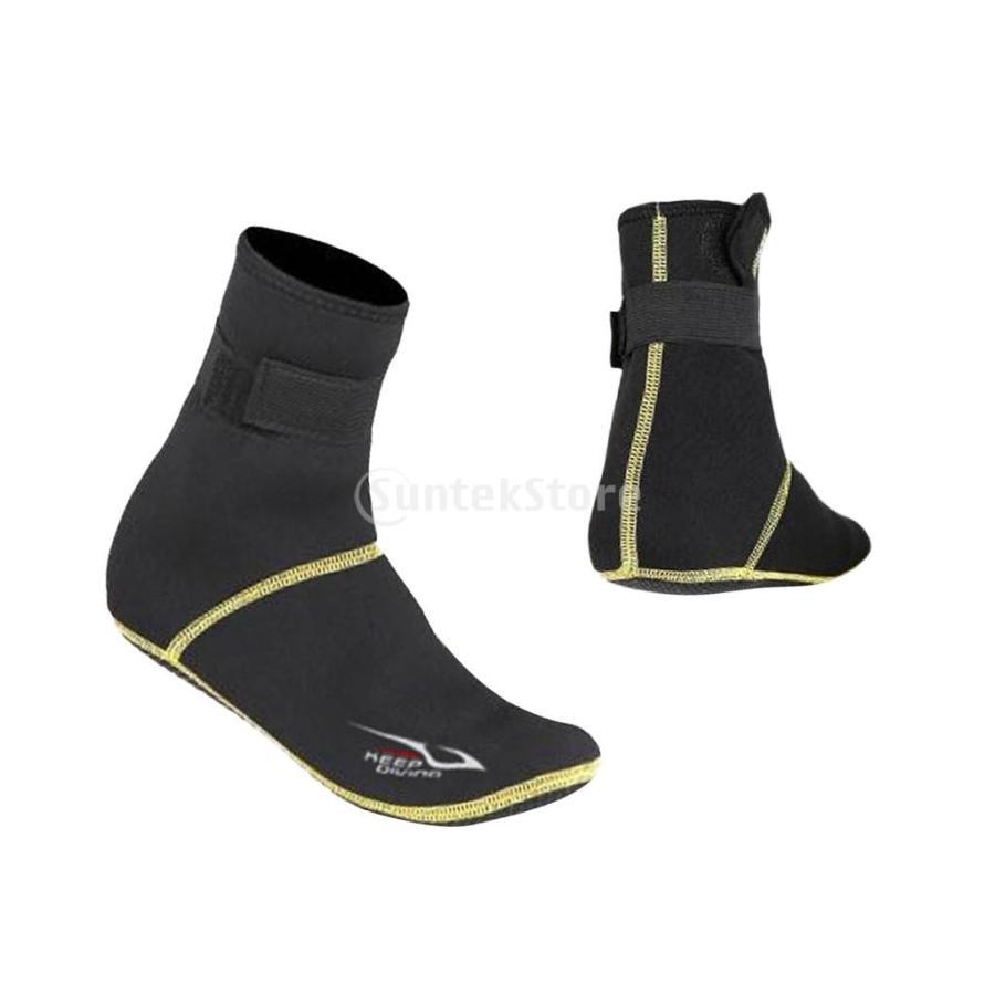 保暖 ネオプレン スイミング サーフィン ダイビング ソックス ウェットスーツ ブーツ 快適 全5サイズ - ブラック, XS stk-shop 02
