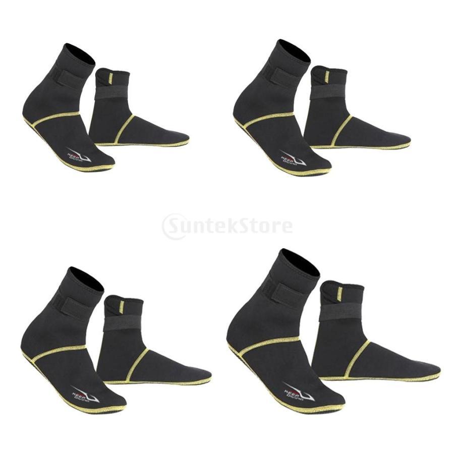 保暖 ネオプレン スイミング サーフィン ダイビング ソックス ウェットスーツ ブーツ 快適 全5サイズ - ブラック, XS stk-shop 03