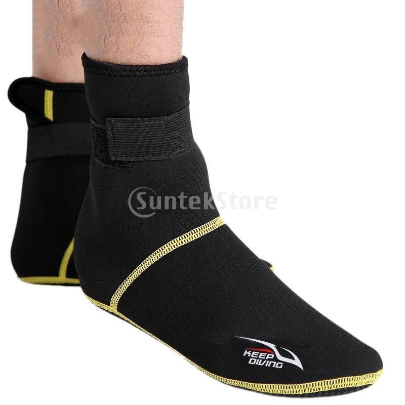 保暖 ネオプレン スイミング サーフィン ダイビング ソックス ウェットスーツ ブーツ 快適 全5サイズ - ブラック, XS stk-shop 04