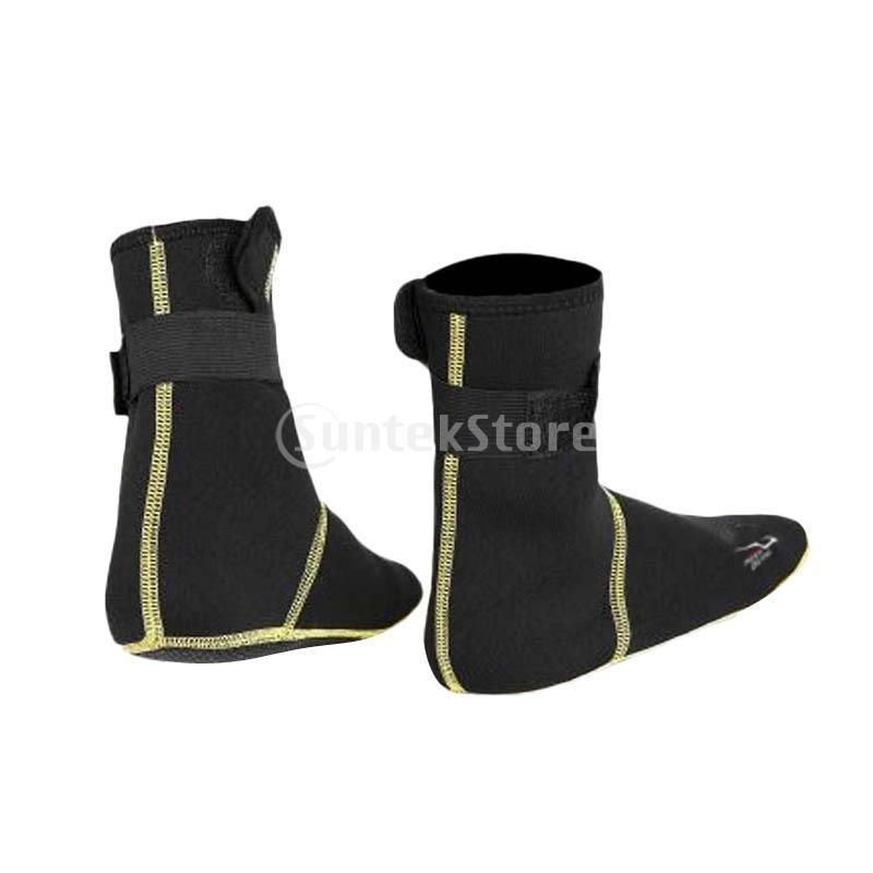 保暖 ネオプレン スイミング サーフィン ダイビング ソックス ウェットスーツ ブーツ 快適 全5サイズ - ブラック, XS stk-shop 05