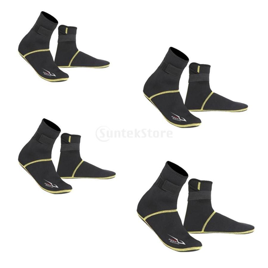 保暖 ネオプレン スイミング サーフィン ダイビング ソックス ウェットスーツ ブーツ 快適 全5サイズ - ブラック, XS stk-shop 06