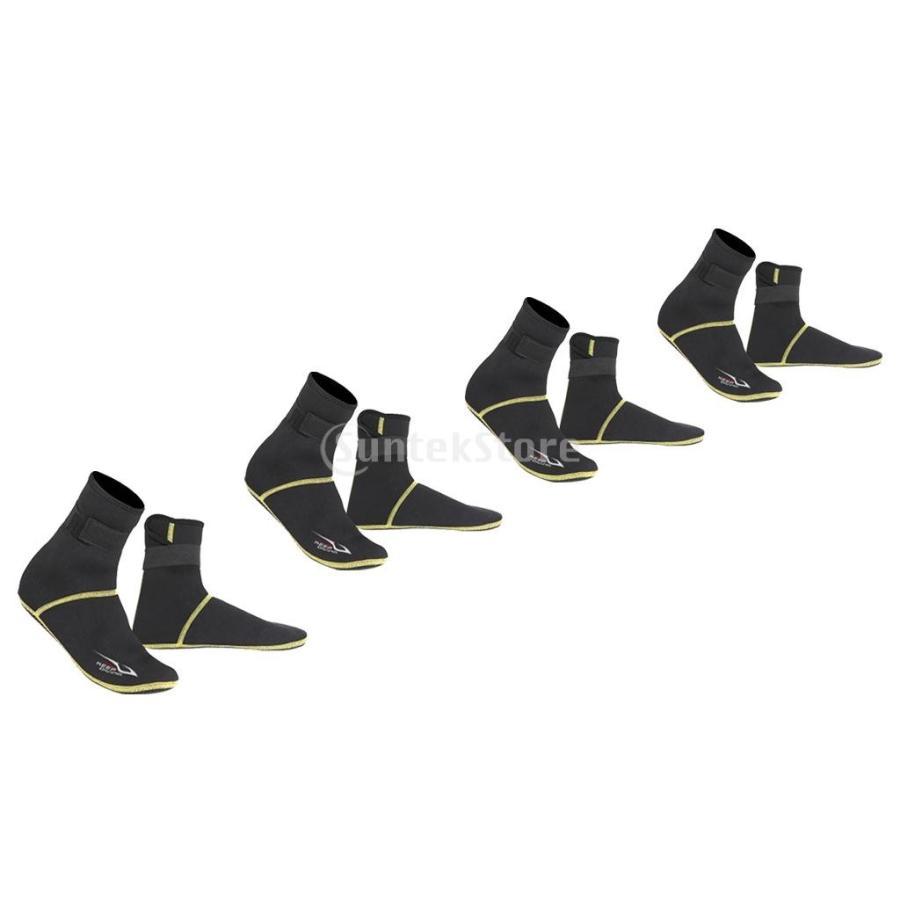 保暖 ネオプレン スイミング サーフィン ダイビング ソックス ウェットスーツ ブーツ 快適 全5サイズ - ブラック, XS stk-shop 09