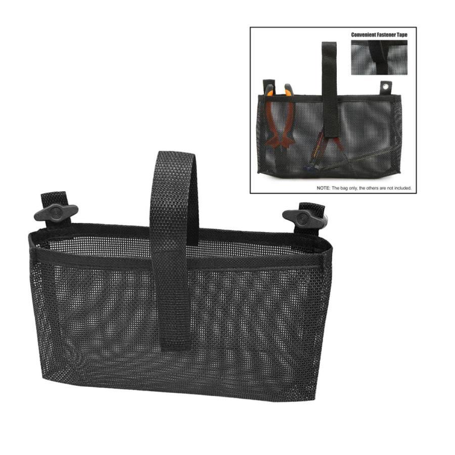 耐久性のあるカヤックメッシュバッグマリンカヌー収納ポーチビールタックルホルダーブラック|stk-shop|02