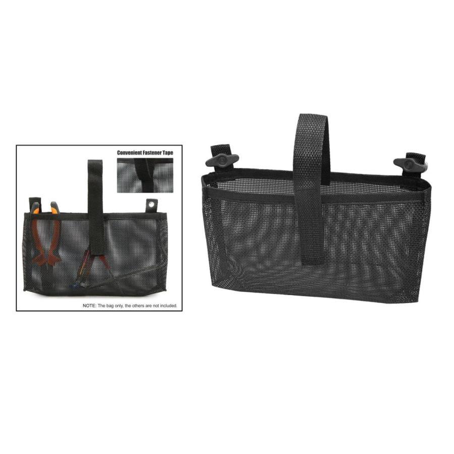 耐久性のあるカヤックメッシュバッグマリンカヌー収納ポーチビールタックルホルダーブラック|stk-shop|03