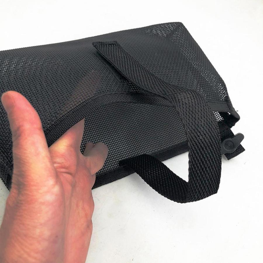 耐久性のあるカヤックメッシュバッグマリンカヌー収納ポーチビールタックルホルダーブラック|stk-shop|04