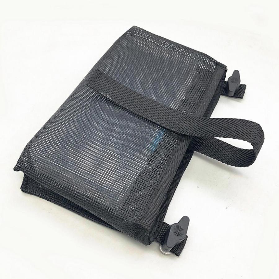 耐久性のあるカヤックメッシュバッグマリンカヌー収納ポーチビールタックルホルダーブラック|stk-shop|05
