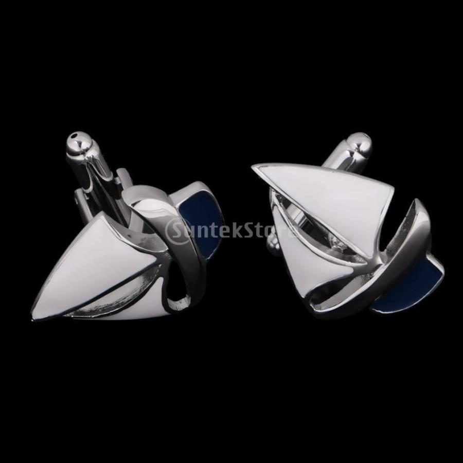 カフスボタン メンズ セーリングテーマ 船形状 ジュエリー カフリンクス stk-shop