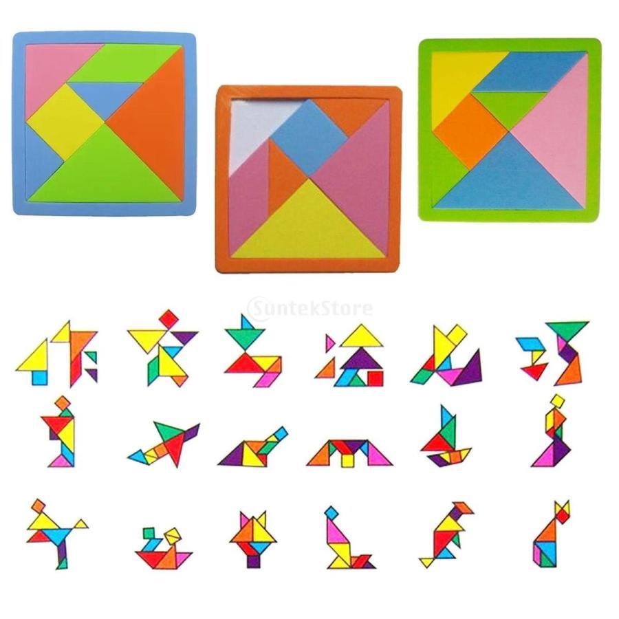 Evaプラスチック製 タングラム パズルゲーム 知育玩具 子供 想像力を開発 礼物 多彩 57002632stkショップ 通販 Yahooショッピング