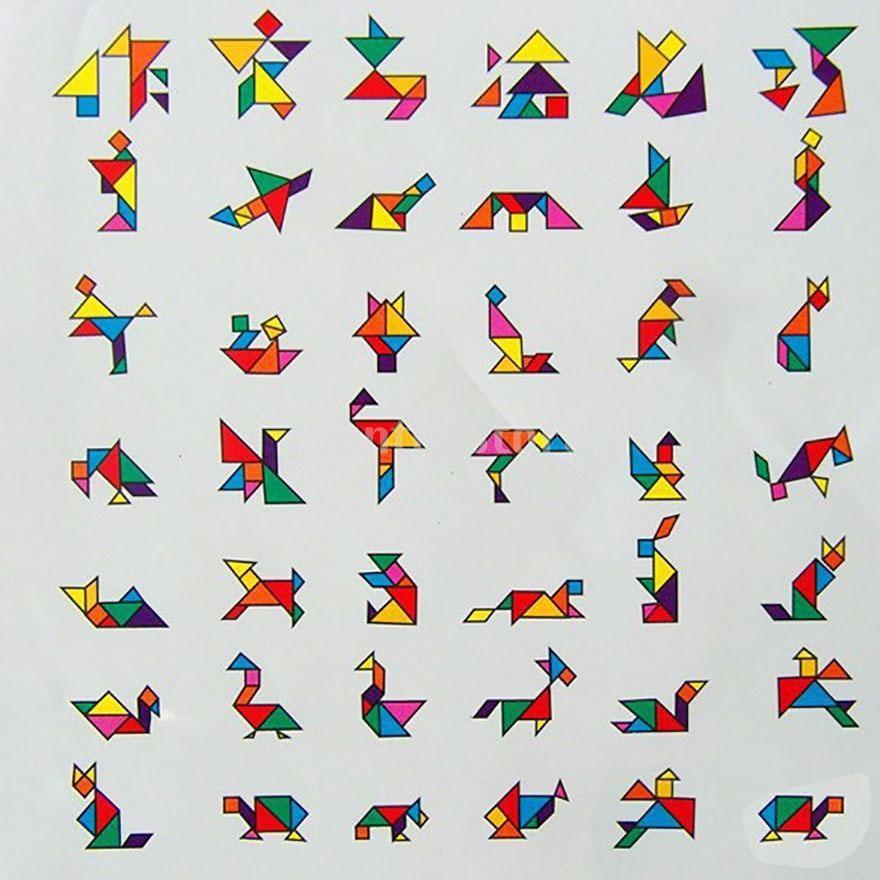 Evaプラスチック製 タングラム パズルゲーム 知育玩具 子供