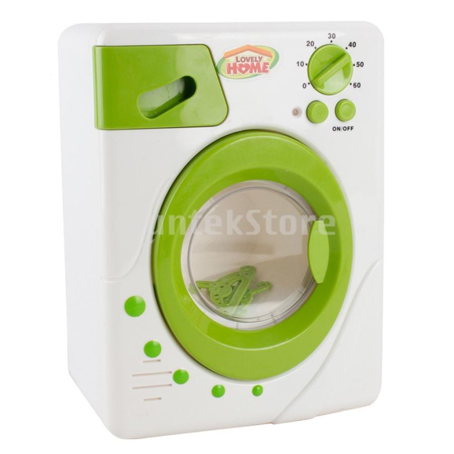 Perfeclan 全7カラー ままごと玩具 調理用品 ジューサー コーヒーマシン 洗濯機 家電おもちゃ 子ども ごっこ遊びセット - 洗濯機|stk-shop