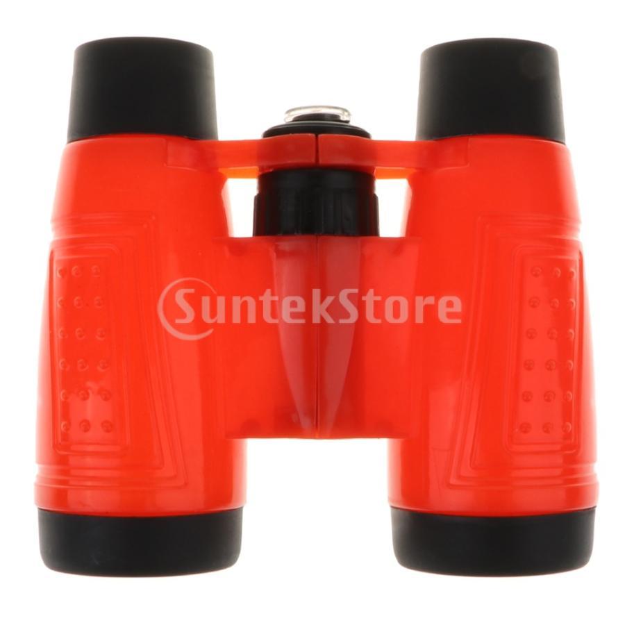 F Fityle 全4カラー ※アウトレット品 6x倍率 双眼鏡 望遠鏡 ネックストリング付き 子ども遊び 赤 - 割引も実施中 おもちゃ